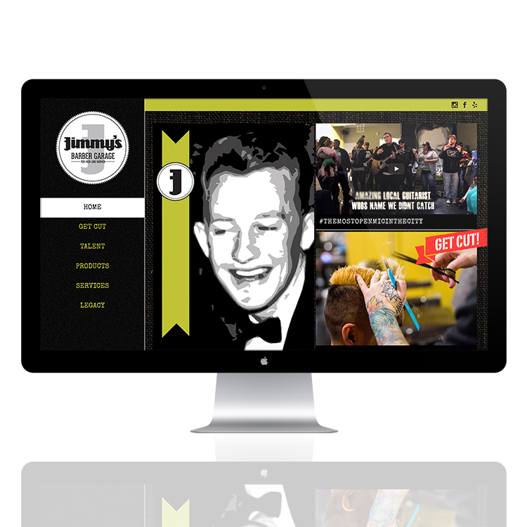 Jimmy's Barber Garage Website Design